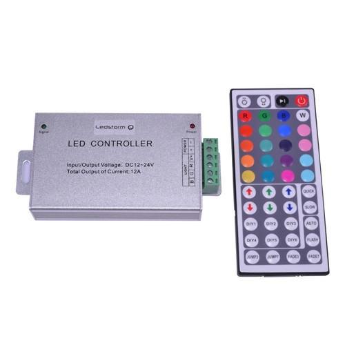 RGB-контроллер Venom Alluminium IR инфракрасный 12А (44 кнопки на пульте)